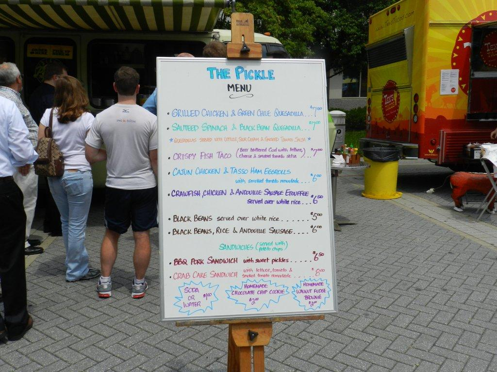 Everything But A Pickle Food Truck Menu