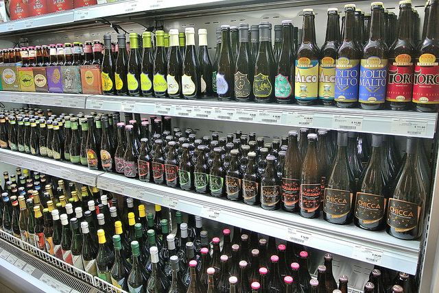 Italian beer selection