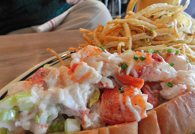 Maine Lobster Roll -  if you don't like this you cannot be my friend.