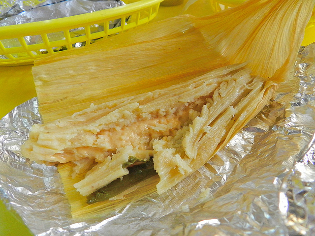 Cheese and pepper tamale!
