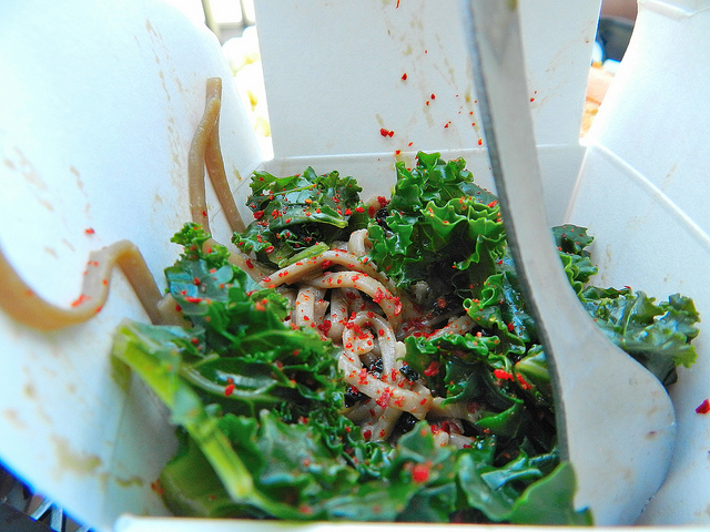 Kale and soba salad; this was the best side item by far