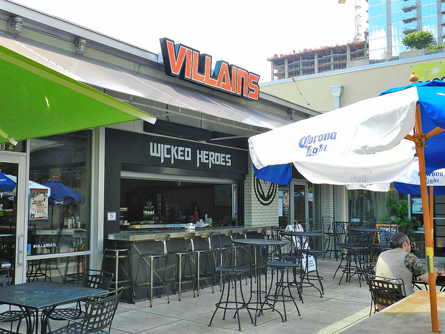 Exterior shot of Villains
