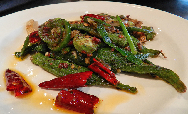 szechuan dry fried okra - tasted just like Tasty China, which is a good thing!