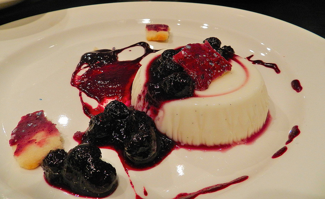 Buttermilk panna cotta and blueberry pop tart - this was by far the best dessert