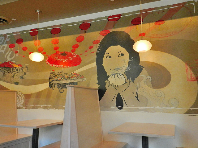 Interior shot - cool artwork...worship the bao