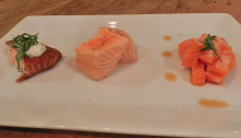 Salmon trio...sounds like a dish at Applebees...