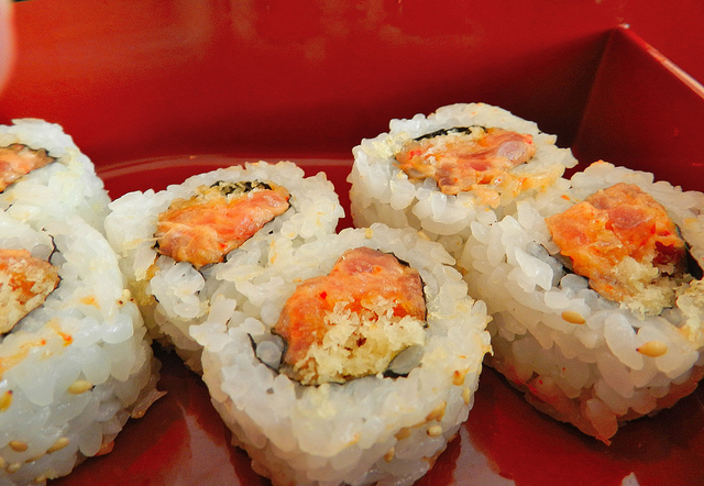 Ubiquitous spicy tuna roll