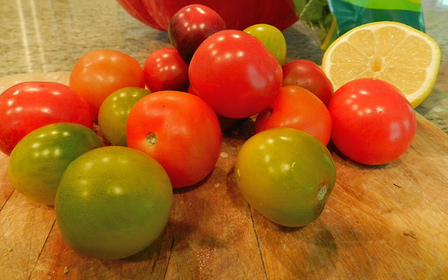 Heirloom baby tomatoes