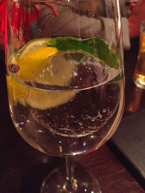 Jose's gin and tonic; love the ice work!