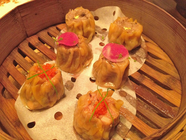 Lucky Shu mai - scallops, beef and pork