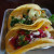 Braised lamb and blackened shrimp tacos