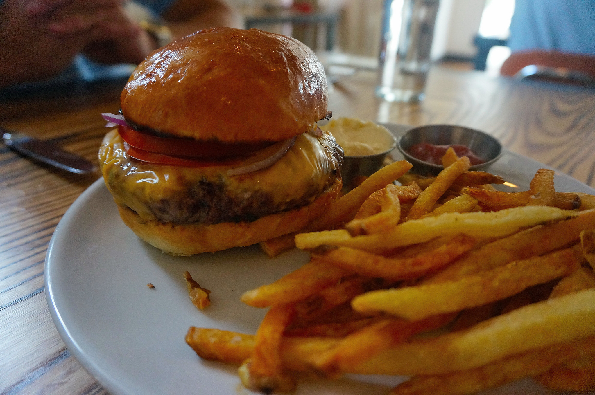 This straight forward, dry aged chuck burger was anything but average