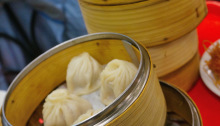 Selection of steamed buns and soup dumplings