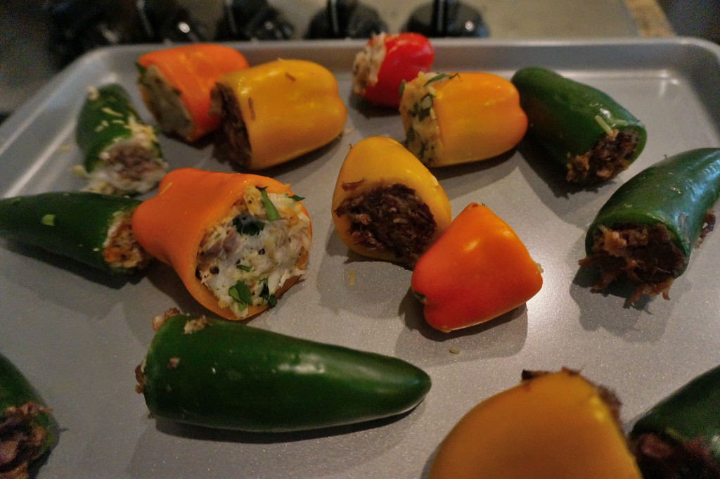 Stuffed peppers ready to wow your Superbowl guests!