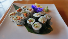 Spicy tuna and scallop rolls