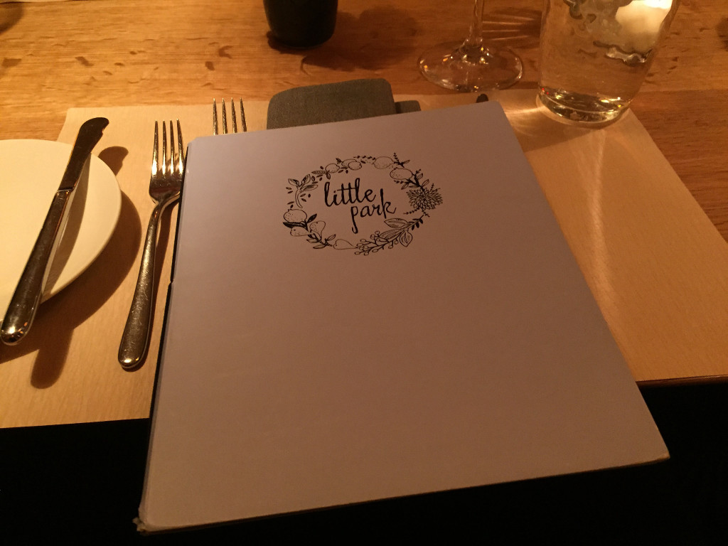 Warm glow of the Little Park menu
