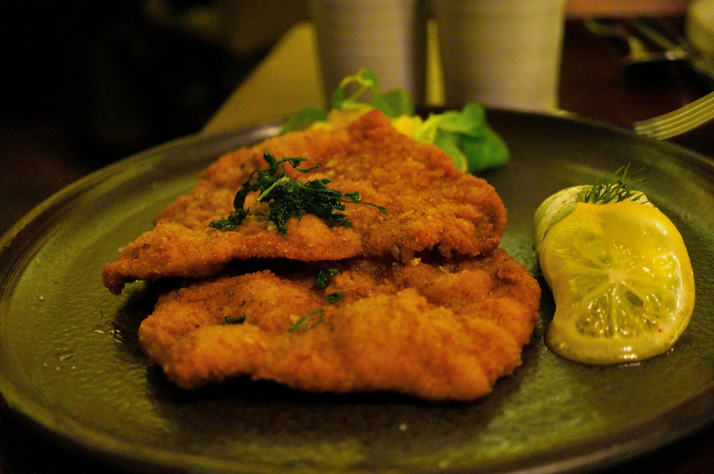 Off the menu Pork Schnitzel - order this!