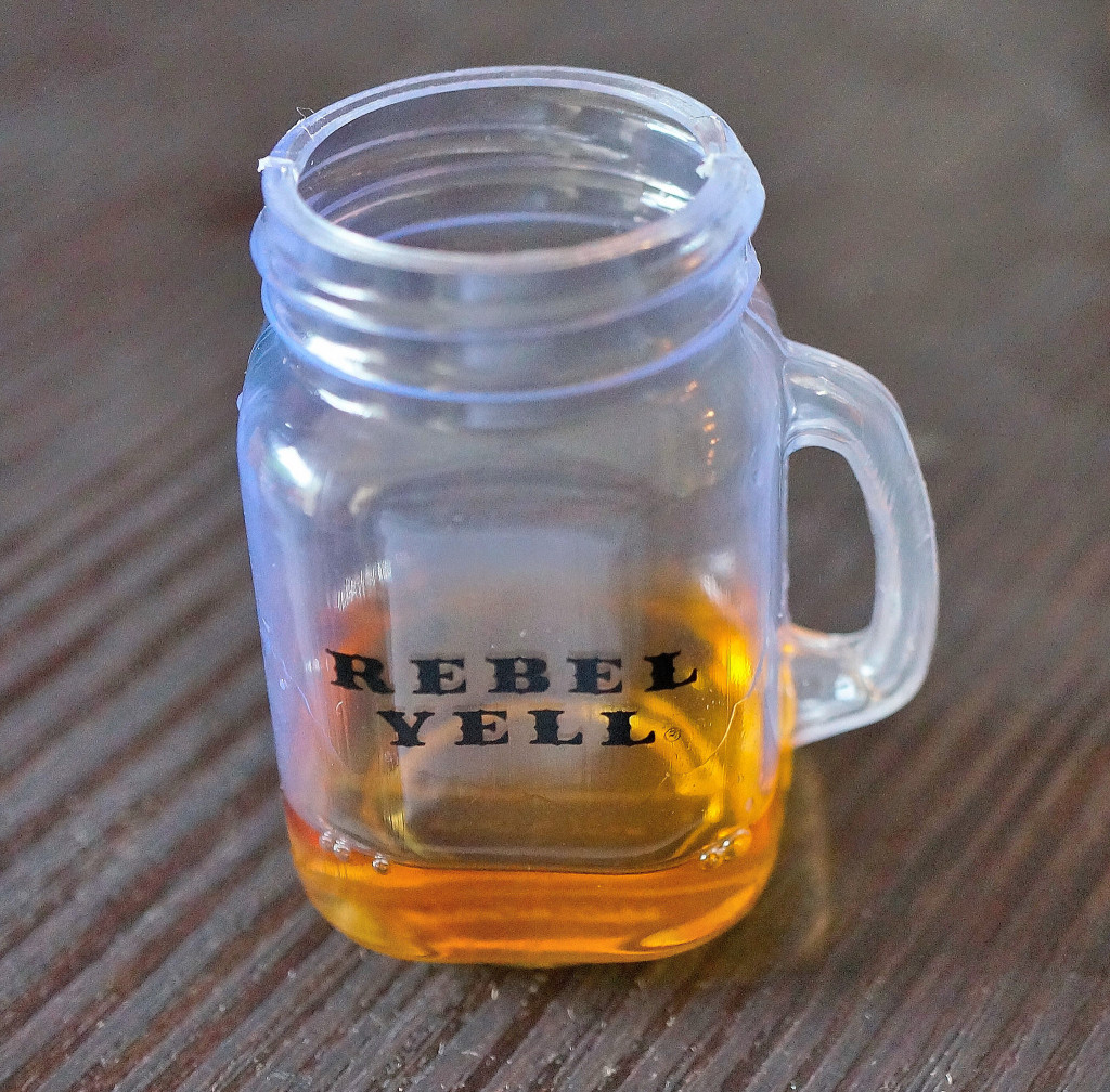 Cute little bourbon mug from Rebel Yell...a little harsh for my liking.