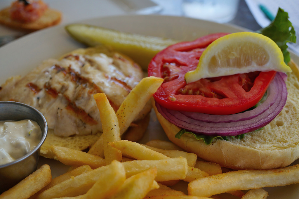 Grilled grouper sandwich