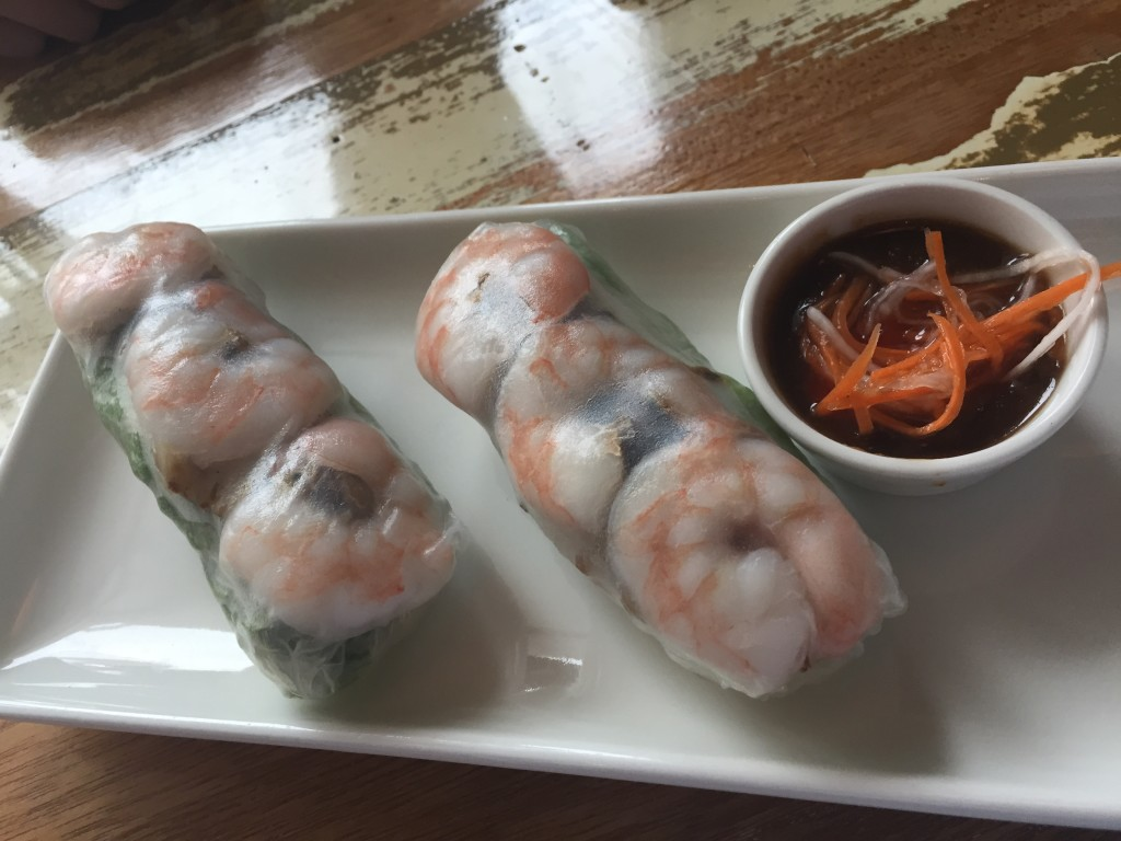 Spring rolls w/ shrimp, pork herbs and noodles!